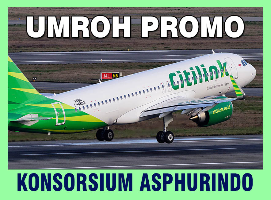 <center>UMROH PROMO<h4>by CITILINK<h4> Rp.18,5 & Rp.21,5 Jt</h4></center>