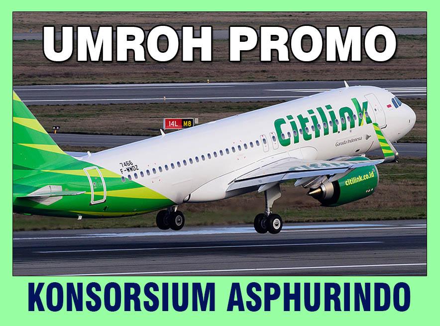 UMROH PROMO<h4>CITILINK Airlines<h4>9 Days - Rp. 18,5 Jt</h4>